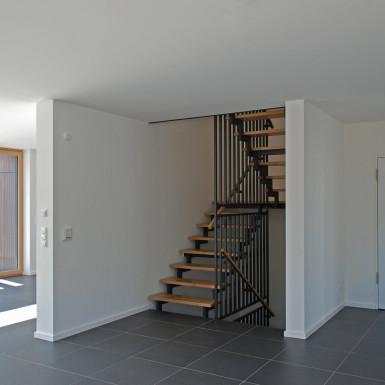 Doppelhaus Ziegelleite Bild Innentreppe