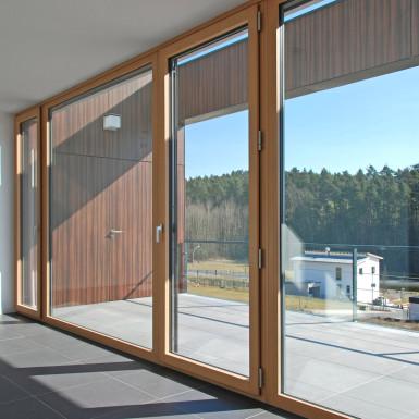 Doppelhaus Ziegelleite Bild Fensterfront 1
