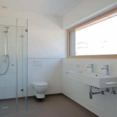 Doppelhaus Ziegelleite Bild Bad Ansicht Waschplatz / Dusche