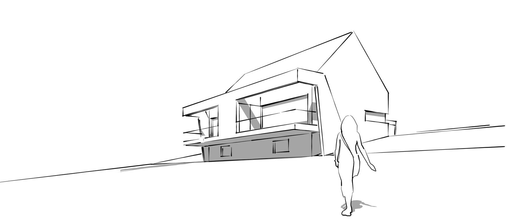 Doppelhaus Ziegelleite Skizze