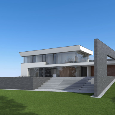Villa Ledlweg Visualisierung Perspektive Südwesten