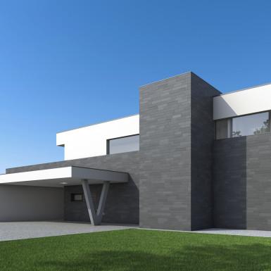 Villa Ledlweg Visualisierung Perspektive Nordosten