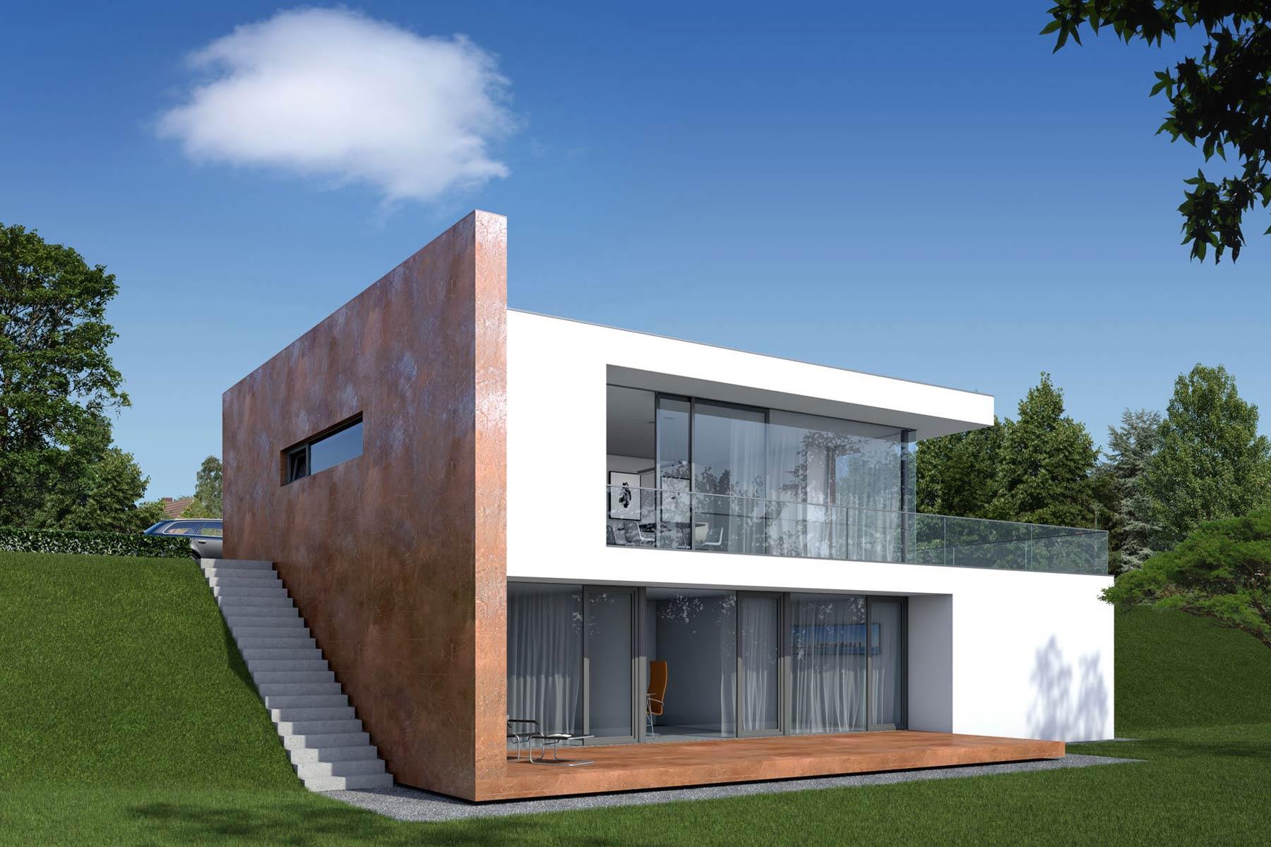 Wohnhäuser riesengebirgsstrasse visualisierung perspektive südwesten