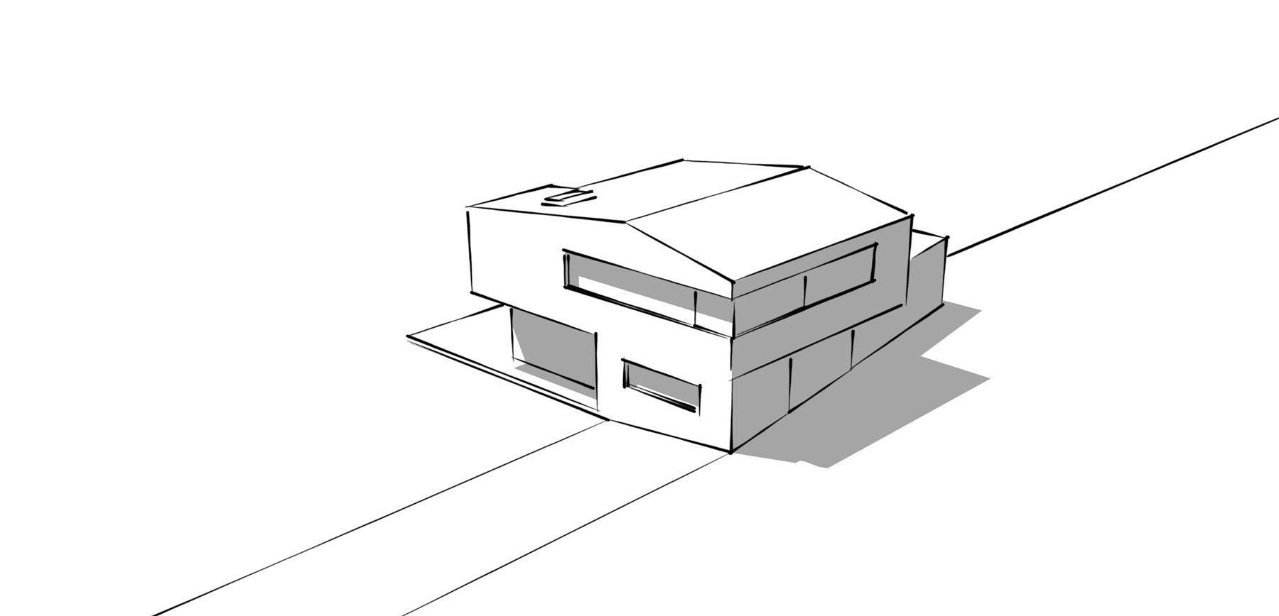 Wohnhaus Sonnenstrasse Skizze