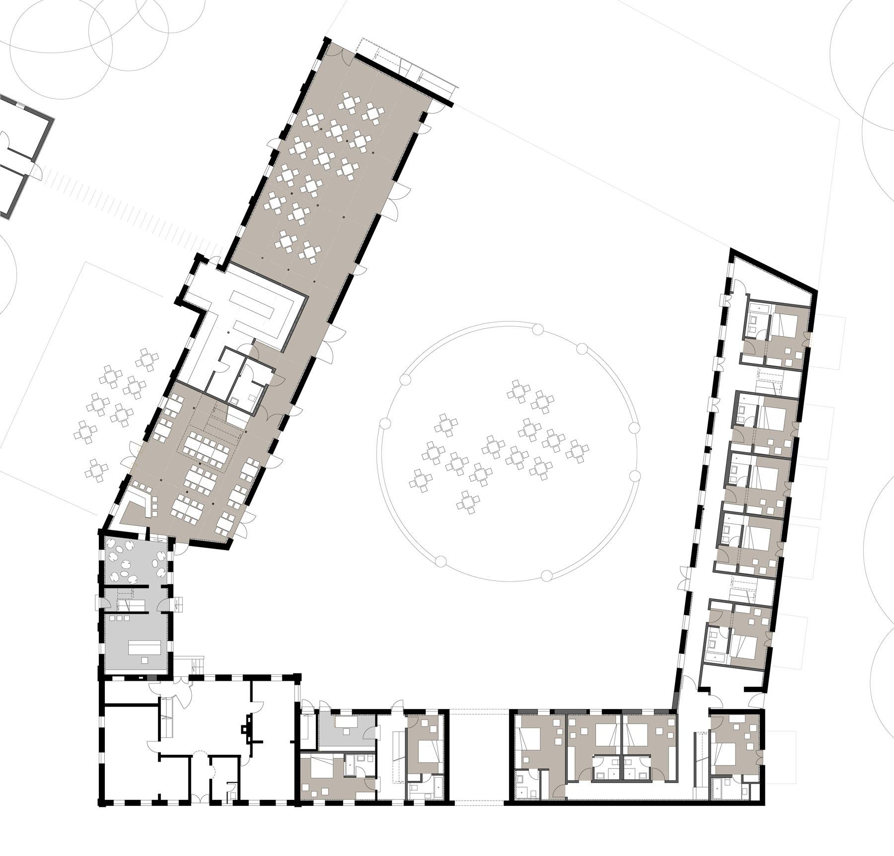 Grundriss Hotelfoyer : Hotel gut hohenholz fichtner gruber architekten