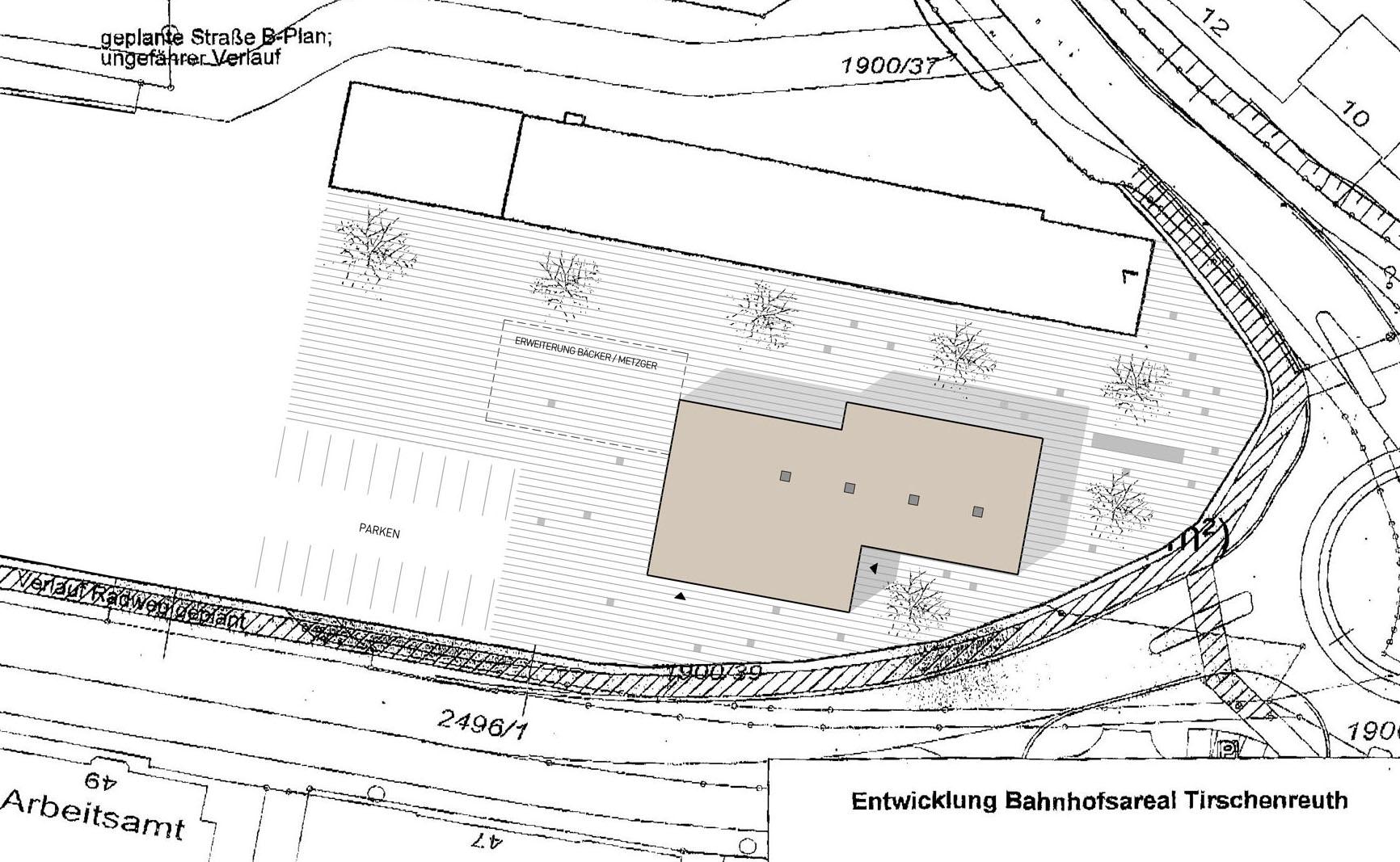 Raiffeisenbank Tirschenreuth Zeichnung Lageplan