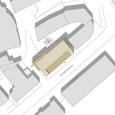 Landhaus Bozen Zeichnung Lageplan