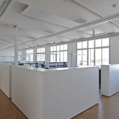 Loftwerk Nürnberg Bild Großraumbüro
